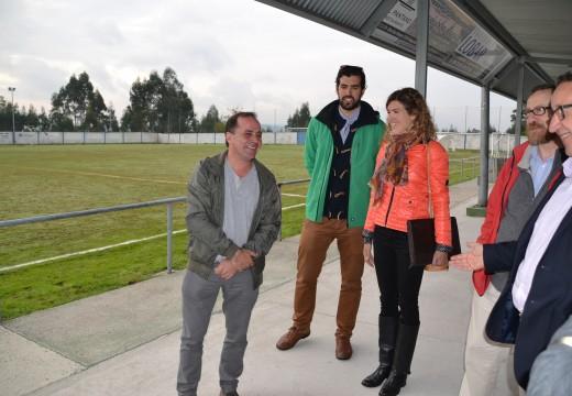 Comezan as obras do novo campo de fútbol de Os Piñeirais de Brexo Lema