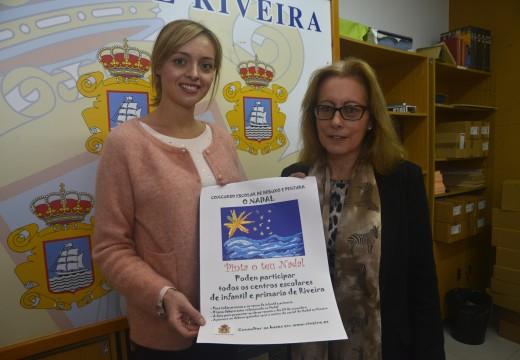 Un concurso entre alumnos de infantil e primaria dos colexios de Riveira decidirá o cartel destas festas de Nadal