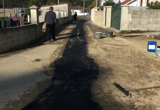 Finalizada a ampliación da rede de saneamento no Lugar de Gándara en Oleiros