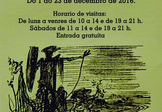 Riveira expón unha exposición en torno á figura de Cervantes para pechar o ano do cuarto centenario do seu pasamento