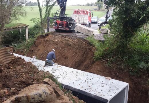 Avanza a bo ritmo a reconstrución de 3 pontes caídas en Frades nos temporais do pasado inverno, nos que Medio Rural inviste 120.000 €