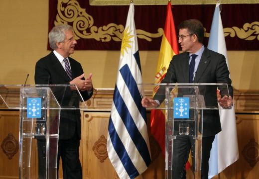 Feijóo destaca a solvencia e a competitividade das empresas galegas como o mellor aval para abrir novas oportunidades de negocio co Uruguai en sectores como as infraestruturas, o forestal, o naval e o agroalimentario