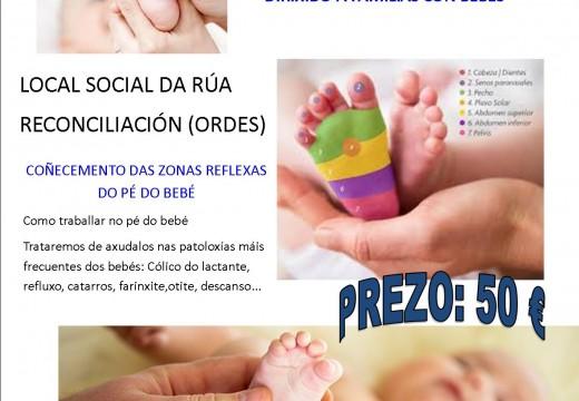 Obradoiro de reflexoloxía podal para bebés, este sábado en Ordes