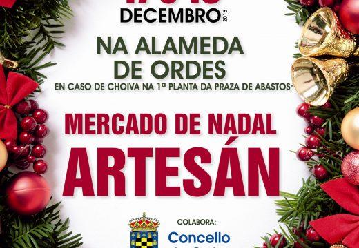 O III Mercado de Nadal Artesán de Ordes terá lugar esta próxima fin de semana