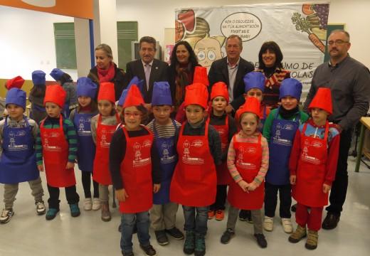 O CPI Fonte Díaz de Touro acolle a estrea da campaña de Consumo de Froita nos colexios que incluirá este ano a castaña como froito subvenionable