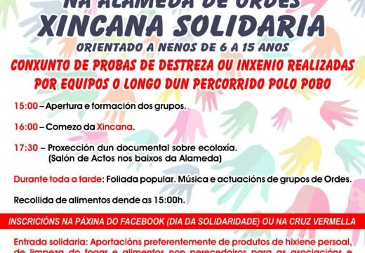 Xincana solidaria na Alameda de Ordes