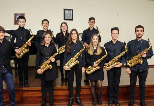 Dezaseis alumnos de toda Galicia actuaron en Riveira na Aula Galega de Saxofón