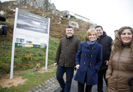 Nava Castro destaca que as obras executadas en Boqueixón mellorarán a accesibilidade turística do miradoiro do Pico Sacro
