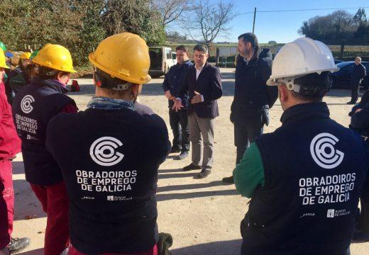 O Obradoiro de Emprego de Ordes e Frades amplía as oportunidades laborais de 20 persoas nas especialidades de albanelería e actividades auxiliares en viveiros e xardíns