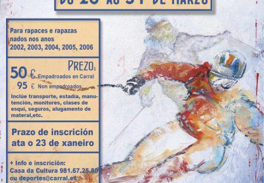 Carral abre o prazo de inscrición para a campaña de Esquí 2017