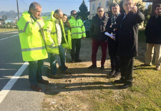 A Xunta inicia a construción dunha senda peonil en Dodro que dá continuidade á rede de camiños do municipio xa existente e mellora a seguridade dos peóns na estrada AC-305