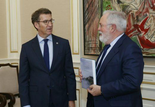 Feijóo ratifica o compromiso de Galicia coas renovables e propón abordar a pobreza enerxética tamén con políticas comúns para toda a UE