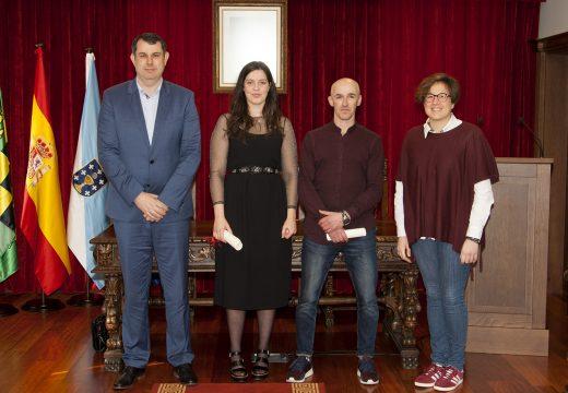 A humildade e a sensibiliade de Tania Gándara marcan o recoñecemento recibido hoxe no Concello de Ordes