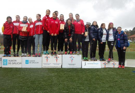 Sociedad Gimnástica de Pontevedra e ADAS Proinar, gañadores absolutos do Campionato Galego de Cross Curto por clubes nas categorías masculina e feminina