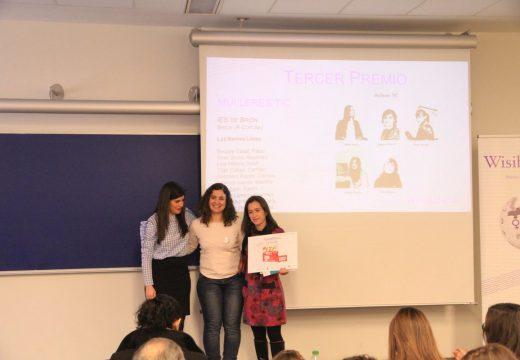 O alumnado do IES Brión logra o terceiro posto no concurso Wisibilízalas, convocado pola Universitat Pompeu Fabra