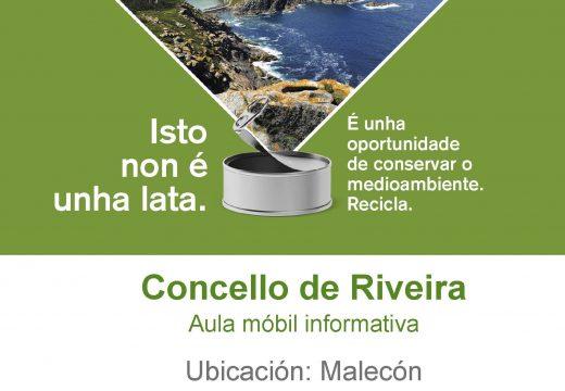 Unha aula móbil informativa recalará este sábado no Malecón para explicar os beneficios dunha correcta reciclaxe