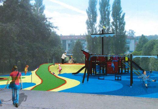 Galeras contará cun novo parque infantil adaptado para nenos e nenas con diversidade funcional