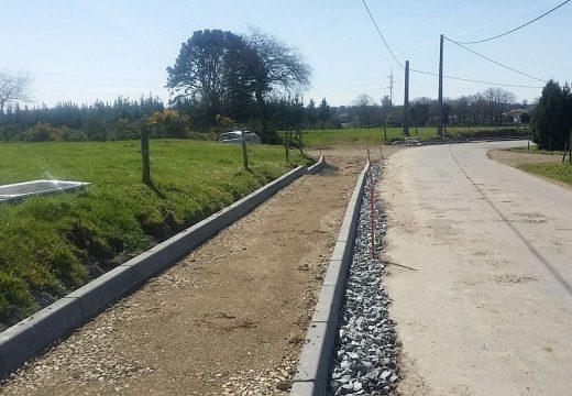 O Concello de Ordes continúa co plan de construción e mellora de beirarrúas no municipio