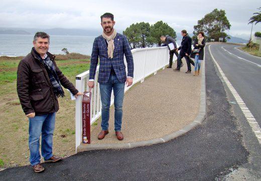 A Xunta mellora a accesibilidade e a seguridade vial na contorna da praia da Arnela, no concello de Porto do Son