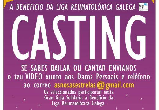 Casting para participar nunha Gala Solidaria en favor da liga Reumatolóxica Galega que se celebrará en Riveira en xuño