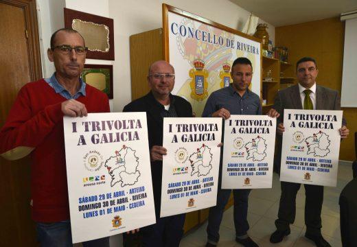 Arteixo, Riveira e Cedeira darán cabida esta fin de semana á primeira Trivolta a Galicia con tres probas de triatlón en tres días
