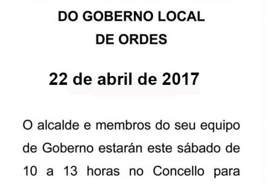 Nova cita co Sábado de portas abertas do Goberno Local