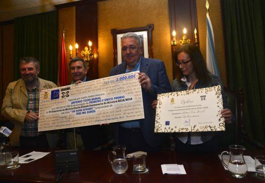 """Antonio Tizón gaña o sexto Concurso de Novela Curta con """"Un home extraño"""""""