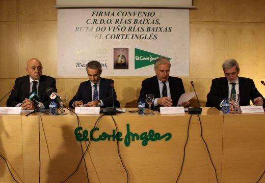O Consello Regulador e a Ruta do Viño Rías Baixas asinan un convenio de colaboración co Corte Inglés para desenvolver iniciativas enogastronómicas