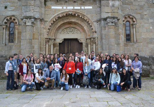 37 alumnos europeos visitan o Concello de Cambre dentro do programa Erasmus+