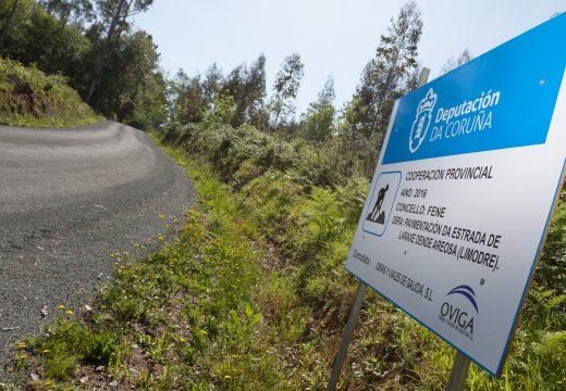 O Concello de Fene repara a principal vía de comunicación entre Limodre e Laraxe