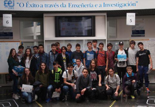 Novo éxito do IES de Brión na III Competición de Robots da Escola de Enxeñería Industrial da Universidade de Vigo