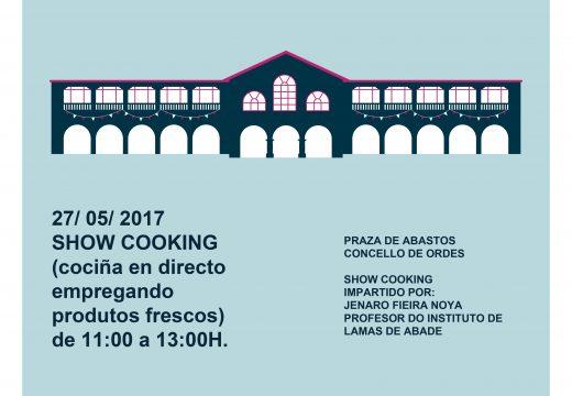 O Concello de Ordes organiza este sábado un Showcooking para promover a súa Praza de Abastos