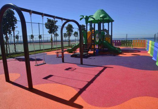 O espazo de ocio de punta do Castro en castiñeiras xa conta cun Parque Infantil