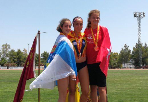 Medalla de prata nacional para a atleta María Pena