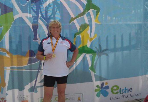 Ánxeles Rodríguez, ouro no Campionato de España de Veteranos en lanzamento de xavelina