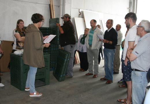 Entrega dos composteiros da campaña desenvolvida conxuntamente con SOGAMA