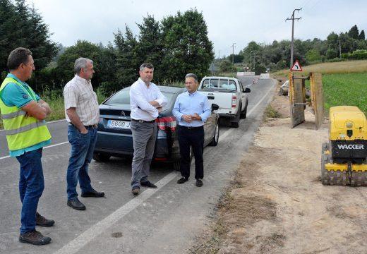 Comezan as obras para completar o saneamento no núcleo de Lavandeira, en Cabanas, nas que a Xunta inviste 236.000 euros