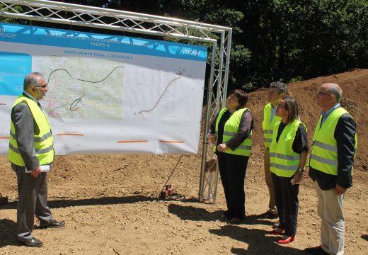 Ethel Vázquez avanza que a nova vía de conexión de Portobravo (Lousame) coa VAP-Brión-Noia, en Sampaio, estará rematada en 2018 cun investimento de 1,3 millóns
