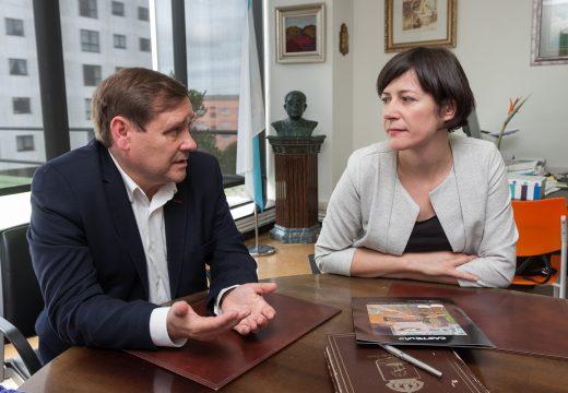 Ana Pontón visita Fene para interesarse polos proxectos  do goberno local e pola actual situación política que se vive no municipio