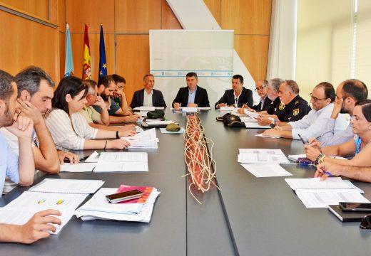 Ovidio Rodeiro presidiu hoxe a reunión da Comisión Provincial de Coordinación Policial de loita contra os incendios forestais