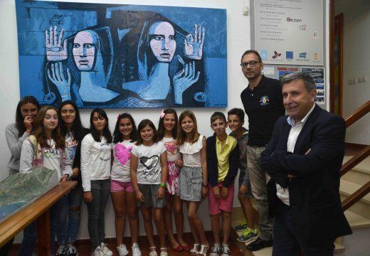 Dúas novas creacións artísticas decoran o Centro de Interpretación de San Roque froito da celebración do Xuño da Cultura