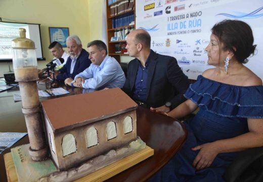 Unha Travesía de Augas Abertas a beneficio da Asociación contra o Cancro surcará a distancia entre Illa de Rúa e o Club Náutico