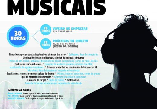 Concellería de Xuventude e Musieventos imparten unhas xornasas gratuítas de formación en espectáculos musicais