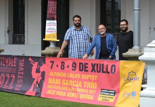 Cultura presenta o Temple Jazz que terá lugar esta fin de semana coas actuacións de Nani García Trío e Alfonso Calvo Septet