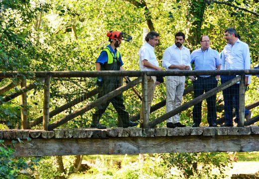 A Xunta inviste preto dun millón de euros na limpeza e conservación de leitos fluviais na demaracación Galicia-Norte