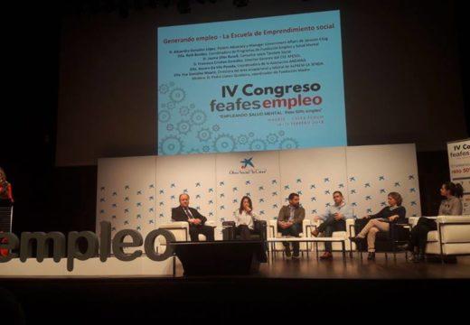 Participación de Andaina Pro Saúde Mental no IV Congreso FEAFES Emprego