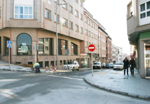 Rematan as obras de construción de beirarrúas na Rúa Nova