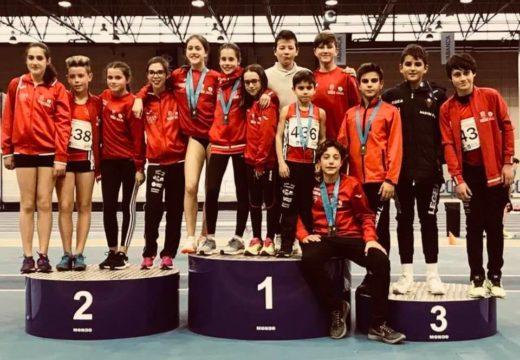 Grande actuación do Club Atlética A Silva-Ordes en diversos campionatos autonómicos e nacionais