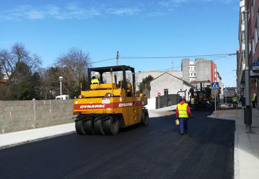 O Concello inicia as obras de aglomerado na Rúa Nova