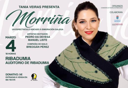 Estrea de 'Morriña' o novo musical de Tania Veiras esta fin de semana en Ribadumia